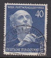 Germany Berlin 1955 Wilhelm Furtwangler Used Stamp - [5] Berlin