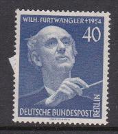 Germany Berlin 1955 Wilhelm Furtwangler Mint Hinged Stamp - Unused Stamps