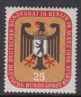 Germany Berlin 1956 Bundestag Meeting In Berlin 20pf Mint Hinged - [5] Berlin