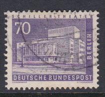 Germany Berlin 1956 Definitive 70 Pf Schiller Theater Used - [5] Berlin