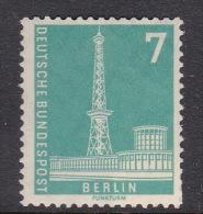 Germany Berlin 1956 Radio Station 7pf MNH - Unused Stamps