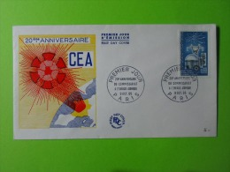 FDC 1965 Premier Jour Paris 20eme Anniversaire Du Commissariat A L'Energie Atomique CEA - FDC