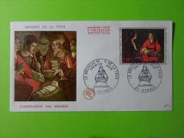 FDC 1966 Premier Jour Rennes Le Nouveau Né Georges De La Tour L'Adoration Des Bergers - FDC