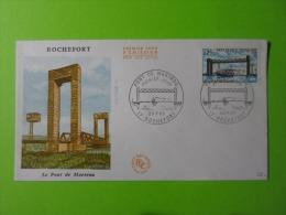 FDC 1968 Premier Jour Rochefort Le Pont De Martrou - FDC