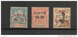 Timbres - France (ex-colonies Et Protectorats) - Canton - Lot De 3 Timbres -