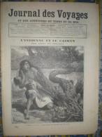 LE JOURNAL DES VOYAGES 29/03/ 1891 CAIMAN BOUSSENARD DAHOMEY AMAZONE JARDIN D' ACCLIMATATION ESPAGNE SEVILLE SEMAINE SAI