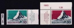 SVIZZERA, 1965, Centenario Prima Ascensione Cervino,  Serie Completa, Usata - Schweiz
