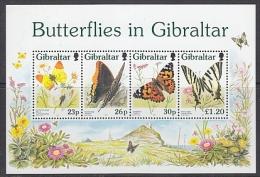 Gibraltar 1997 Butterflies M/s ** Mnh (T1004) - Gibilterra