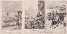 """MILITARIA PATRIOTIQUE  - Serie  De 3 Cartes Illustrées  """" NOS HEROINES """" -(J.Robins ,Mlle De La Charce ,Mme Jarrethout ) - Patriotiques"""
