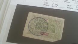 LOT 233144 TIMBRE DE COLONIE OBOCK OBLITERE N�59 VALEUR 11 EUROS