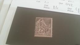 LOT 233147 TIMBRE DE COLONIE REUNION NEUF(*) N�24 VALEUR 53 EUROS