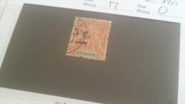 LOT 233150 TIMBRE DE COLONIE REUNION OBLITERE N�52