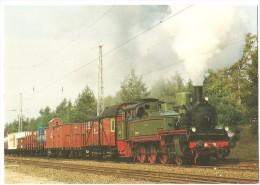 """TRAIN Allemagne - EISENBAHN Deutschland - NÜRNBERG - Güterzug-Tenderlokomotive T13 """"7906 Stettin"""" - Trains"""