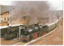TRAIN Allemagne - EISENBAHN Deutschland - NOSSEN Personenzug Dampflokomotive 35 1113-6 Und Güterzuglokomotive 50 3536-5 - Gares - Avec Trains