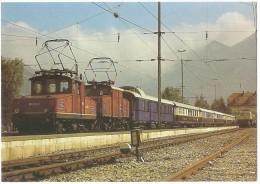 TRAIN Allemagne - EISENBAHN Deutschland - MURNAU - OBERAMMERGAU (gare) - Elektro-Lokomotiven 169 003-1 + 169 005-6 - Gares - Avec Trains