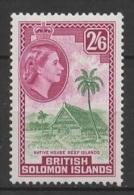 Solomon Islands (1956/60) Yv. 91  /  House - Maison - Culture - Palm - Architectuur