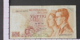 BELGIUM  50  FRANCS  1966  DATE 16-05-1966 -  (Nº09563) - [ 6] Treasury