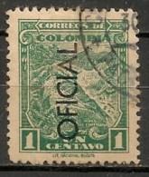Timbres - Amérique - Colombie - 1937 - Service - Oficial - 1  Ct. - - Colombie