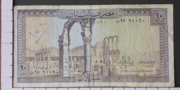 LEBANON  10  LIVRES  1964-86   -  (Nº09571) - Liban