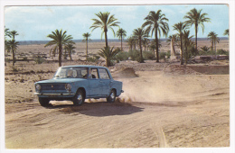 Dans Le Désert - Fiat 124 En Piste Aux Abords Du Puits De L'oasis - Pas Circulé - Turismo
