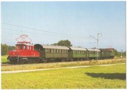 TRAIN Allemagne - EISENBAHN Deutschland - MURNAU - Elektro-Lokalbahn Lokomotiven E 69 03 + E 69 02 - Trains