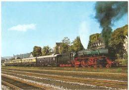TRAIN Allemagne - EISENBAHN Deutschland - MERZIG - Schnellzug-Lokomotive 001 199-9 - Trains