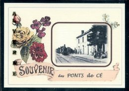 49  Les  PONTS De CÉ -   .. ...  Gare Souvenir  Au Fusain Creation Moderne Série Limitée Et Numerotée 1 à 10 ... N° 3/10 - Les Ponts De Ce