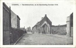 CUERNE - Harelbekestraat, Na De Beschieting October 1918 - Kuurne