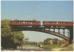 TRAIN Allemagne - EISENBAHN Deutschland - LÖRRACH - STETTEN - Elektro-Triebwagen 485 027-7 (autorail, Pont, Viaduc) - Trains