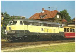 TRAIN Allemagne - EISENBAHN Deutschland - KÖNIGSTEIN/TAUNUS - Diesel-Streckenlokomotive 216 198-2 (tractant Un Autorail) - Gares - Avec Trains