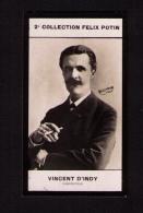 Petite Photo 2e Collection Félix Potin (chocolat), Compositeur Vincent D'Indy, Photo Reutlinger, 1907 - Albums & Collections
