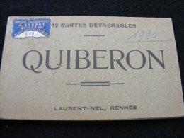 Carnet De 12 Cpa Du 56 Quiberon   ...  Tous Les Scans  NW - Quiberon