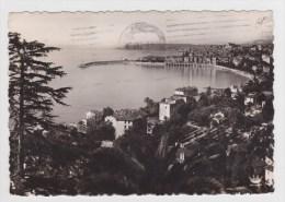 (RECTO / VERSO) MENTON EN 1951 - N° 14 - VUE GENERALE PRISE DE GARAVAN - CPSM GF -  BEAU CACHET VINTIMIGLIA - Menton