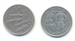 ISLANDA  10 Kronur 1987 - Islanda