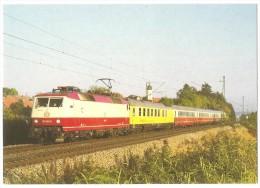 TRAIN Allemagne - EISENBAHN Deutschland - HOCHDORF (ALTHEGNENBERG) - Elektro Schnellzuglokomotive 120 001-5 - Trains