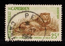 CAMEROUN 1962-64 -1 Timbre YT N° 348a  Animaux Le Lion - Cameroun (1960-...)
