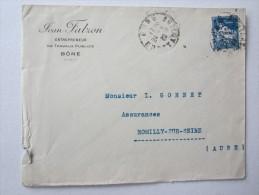 FRANCE MARCOPHILIE LETTRE JEAN FALZON ENTREPRENEUR BONE ALGERIE OBLITERATION - Algeria (1962-...)