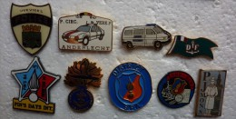 201411- ANNEE 90 - POLICE - GENDARMERIE-DOUANE-BSR- 9 PINS - Police