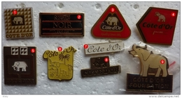 201411- CHOCOLAT- COTE  D OR NESTLE -ELEPHANT - 9 PINS - Pin's