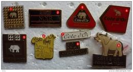 201411- CHOCOLAT- COTE  D OR NESTLE -ELEPHANT - 9 PINS - Pins
