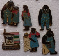 201411- DE 1992 - SIX PINS OMO GORILLE - Pins