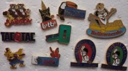 201411- DE 1995 - 6 PINS JEUX A GRATTER - 4 AUTRES CHEVAL-LION-CERTAINS EGF - Pins