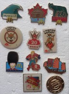 201411- DE 1995 - MAC DO -QUICK- BURGER KING 12 PINS - Pin's