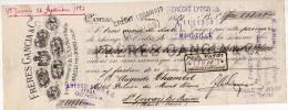 "Italia Italie - 1883 Lettre Change Entete "" FRERES GANCIA & CIE "" CANELLI Près D'ASTI  Timbre Fiscal 10c - Italia"