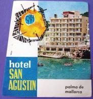 HOTEL PENSION RESIDENCIA HOSTAL AGUSTIN PALMA DE MALLORCA SPAIN LUGGAGE LABEL ETIQUETTE AUFKLEBER DECAL STICKER Madrid - Hotel Labels