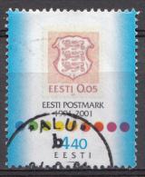 ESTONIE Mi:414 10.Jahrestag Der Wiederausgabe Estnischer Briefmarken 2001 Used-Gebruikt-Oblitere - Estland