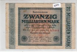Billets -  B1544 - Allemagne - 20 Milliarden Mark 1923 ( Type, Nature, Valeur, état... Voir 2 Scans) - [ 3] 1918-1933: Weimarrepubliek
