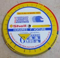 SHELL   -   RALLYE des  GARRIGUES LANGUEDOC ROUSSILLON du 13 au 15 MARS 1992 - Horaires  1er Voiture