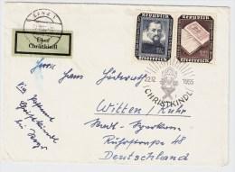 """Österreich, 1955, """" Christkindl """", S675 - 1945-60 Briefe U. Dokumente"""