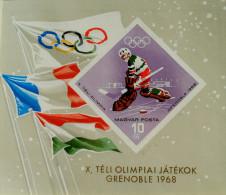 10 EMES JEUX OLYMPIQUES D'HIVER A GRENOBLE 1967 - NEUF ** - YT BL 68 - MI BL 62B - NON-DENTELE - Hongrie